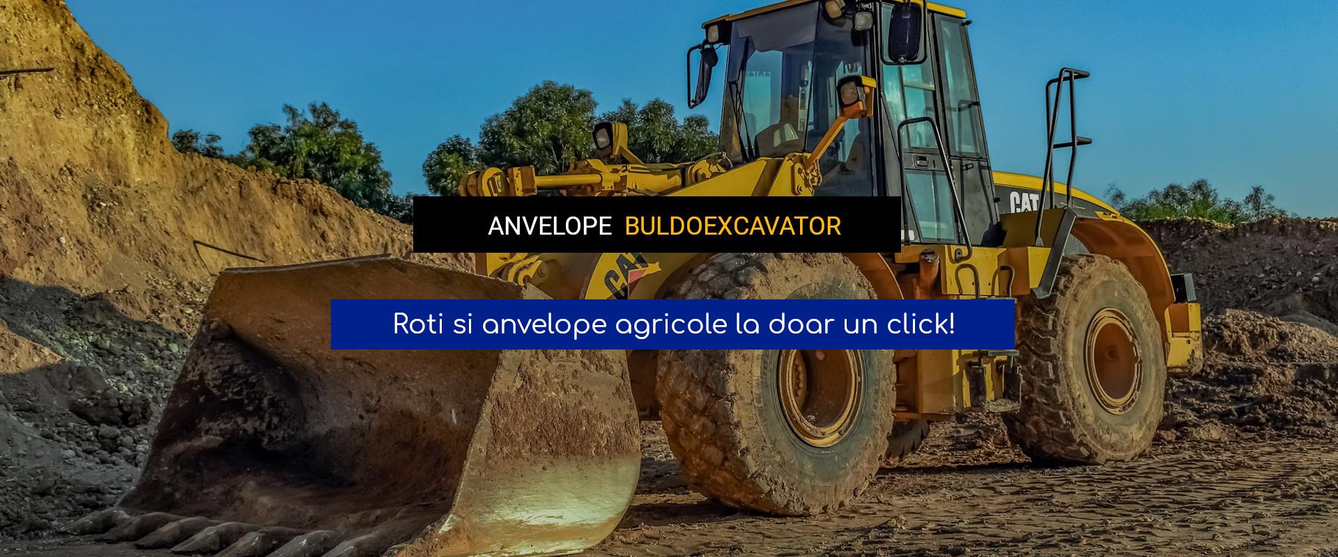 Anvelope buldoexcavator